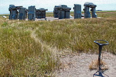 Painting - Carhenge - 09 by Gregory Dyer