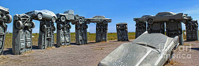 Painting - Carhenge - 11 by Gregory Dyer