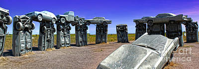 Painting - Carhenge - 12 by Gregory Dyer