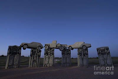 Photograph - Carhenge At Dusk by Art Whitton