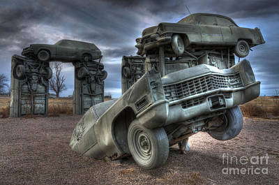 Photograph - Carhenge Automobile Art 5 by Bob Christopher