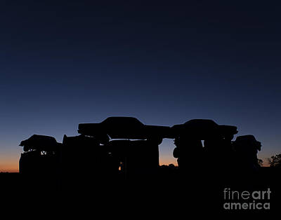 Photograph - Carhenge Silhouette by Art Whitton