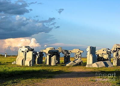 Photograph - Carhenge Somewhere In Nebraska by Phyllis Kaltenbach