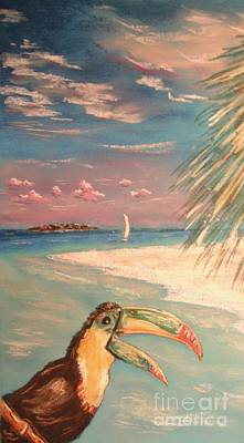 Painting - Caribbean Afternoon by The Beach  Dreamer