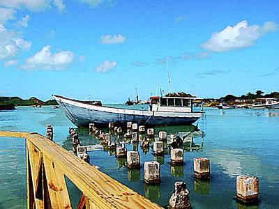 Photograph - Caribbean - Antigua Dock by Susan Savad