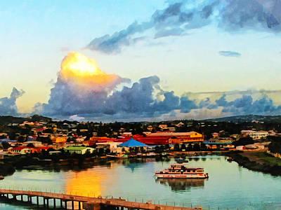 Photograph - Caribbean - Antigua Evening by Susan Savad