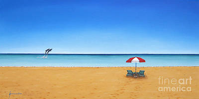 St. Maarten Painting - The Perfect Beach by Jerome Stumphauzer