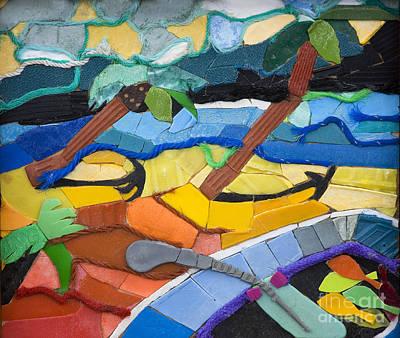 Caribbean Beach Art Print by Nicola Scott-Taylor