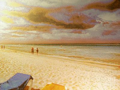 Chaise Longue Painting - Caribbean Beach by Odon Czintos