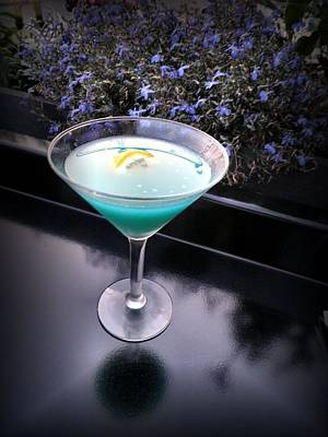 Martini Royalty-Free and Rights-Managed Images - Caribbean Blue Martini by T Cook