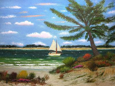 Caribbean Sea Painting - Caribbean Calm by Gordon Beck