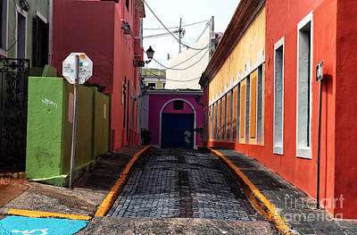 Caribbean Colors Of San Juan Art Print by John Rizzuto