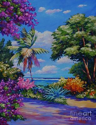 Hibiscus Painting - Caribbean Colours by John Clark