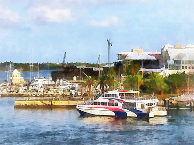 Photograph - Caribbean - Dock At King's Wharf Bermuda by Susan Savad