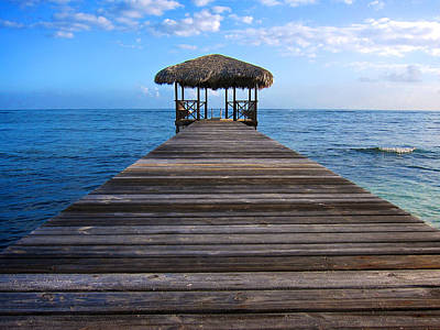 Photograph - Caribbean Dock by Mary Lee Dereske