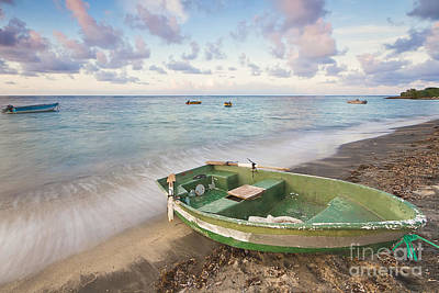 Nevis Photograph - Caribbean Fishing Boat On The Beach by Katherine Gendreau