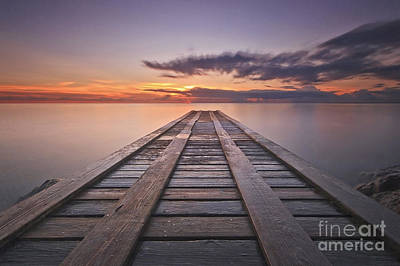 Nevis Photograph - Caribbean Fishing Dock At Sunset by Katherine Gendreau