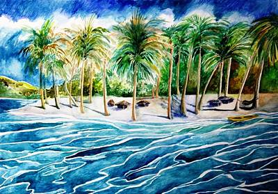 Painting - Caribbean Harbor by Kandy Cross