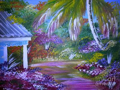 Jamaican Painting - Caribbean Home by Collin A Clarke