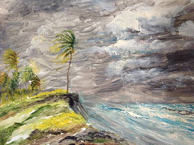 Painting - Caribbean Hurricane. by Egidio Graziani