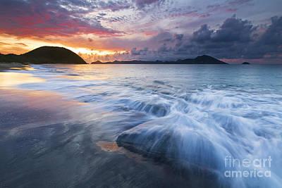 Nevis Photograph - Caribbean Island Beach Sunset by Katherine Gendreau