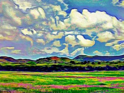 Digital Art - Caribbean Island Landscape - Horizontal by Lyn Voytershark