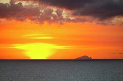 Antilles Photograph - Caribbean Island Sunset by Michaelutech