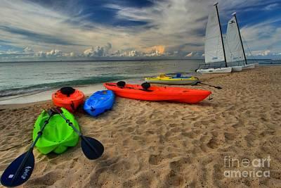 Photograph - Caribbean Kayaks by Adam Jewell