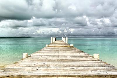 Photograph - Caribbean Landscape - Isolated Jetty - Bahamas by Pier Giorgio Mariani