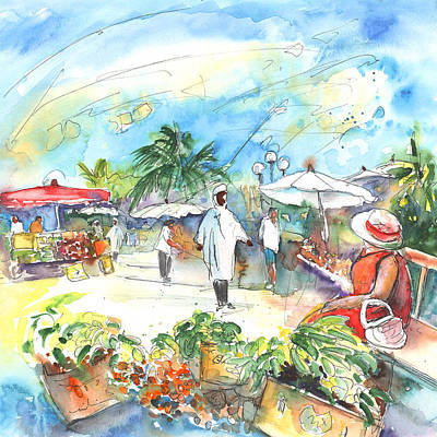 Painting - Caribbean Market by Miki De Goodaboom