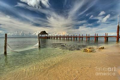 Photograph - Caribbean Ocean Pier by Adam Jewell
