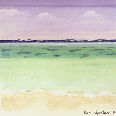 Painting - Land Ahead Ocean Turquoise Waters 2 Square by Robyn Saunders