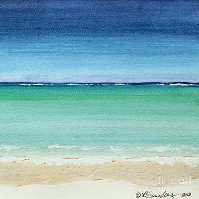 Painting - Reaf Ocean Turquoise Waters Square by Robyn Saunders