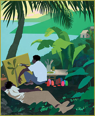 Caribbean Painter Art Print