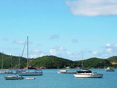 Photograph - Caribbean - Peaceful Sea St. Thomas by Susan Savad