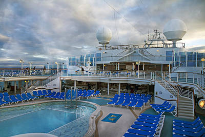 Caribbean Princess All Aboard Art Print by Betsy Knapp