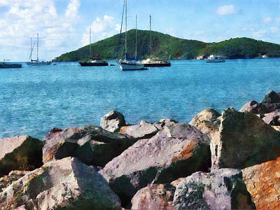 Photograph - Caribbean - Rocky Shore St. Thomas by Susan Savad
