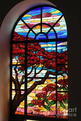 Caribbean Stained Glass  Art Print