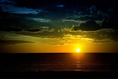 Art Print featuring the photograph Caribbean Sunset ... by Chuck Caramella