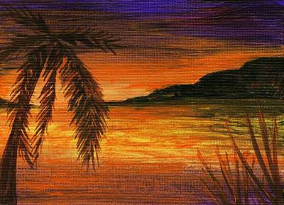Painting - Caribbean Sunset by Anastasiya Malakhova