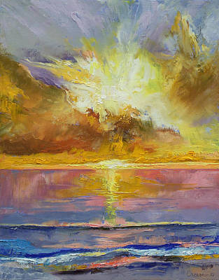 Carribean Painting - Caribbean Sunset by Michael Creese