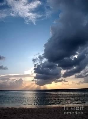 Photograph - Caribbean Sunset by Peggy Hughes