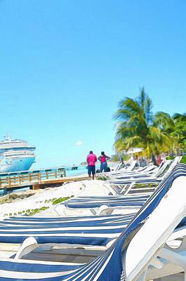 Ships Painting - Caribbean Vacation by Anton Joseph