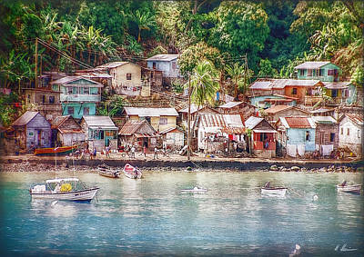 Caribbean Village Art Print by Hanny Heim