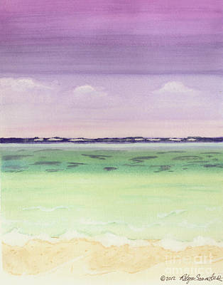 Painting - View Of Sea by Robyn Saunders