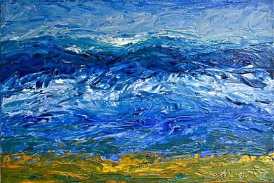 Painting - Cariblue by Alexandra Jordankova