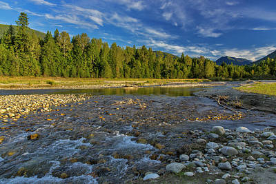 Kokanee Salmon Photograph - Cariboo Creek In Burton, British by Chuck Haney