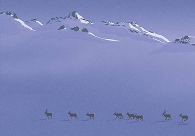 Digital Art - Caribou Trail by Peter Rashford