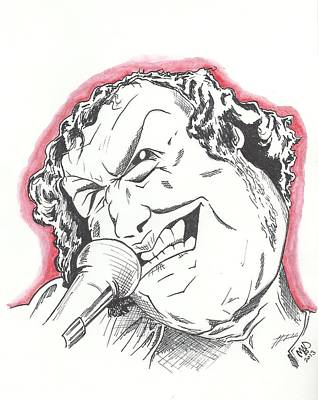 Caricature Joe Cocker Art Print