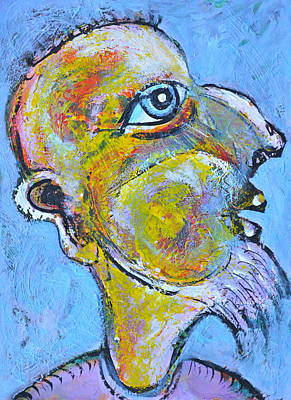 Abstract Shapes Janice Austin Royalty Free Images - Caricature of a Wise Man Royalty-Free Image by ITI Ion Vincent Danu